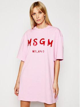 MSGM MSGM Každodenné šaty 3041MDA68 217298 Ružová Regular Fit
