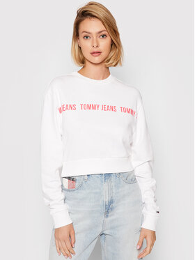 Tommy Jeans Tommy Jeans Felpa Tape Crew DW0DW09793 Bianco Regular Fit