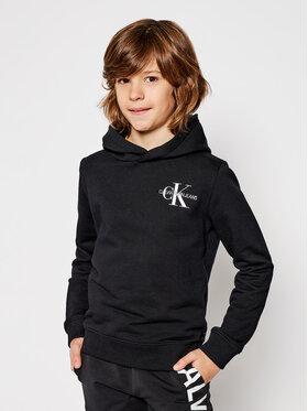 Calvin Klein Jeans Calvin Klein Jeans Mikina Small Monogram Hoodie IU0IU00164 Čierna Regular Fit
