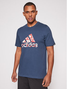 adidas adidas T-Shirt M Bos Brtp Fll GL3702 Σκούρο μπλε Regular Fit