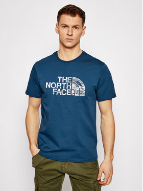 The North Face The North Face T-Shirt Woodcut Dome Tee NF00A3G1BH71 Granatowy Regular Fit