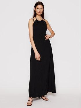 Trussardi Trussardi Sukienka letnia Soft 56D00519 Czarny Relaxed Fit