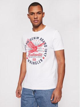 Wrangler Wrangler T-shirt Classic Americana W7AHD3989 Bijela Regular Fit