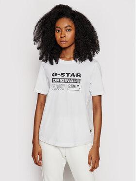 G-Star Raw G-Star Raw Тишърт Lyon D19953-4107-110 Бял Regular Fit