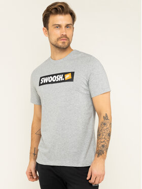 Nike Nike Marškinėliai NSW Tee Swoosh AR5027 Pilka Standard Fit