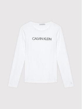 Calvin Klein Jeans Calvin Klein Jeans Bluse Institutional Logo IG0IG01014 Weiß Regular Fit