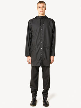 Rains Rains Kurtka przeciwdeszczowa Essential 1202 Czarny Regular Fit