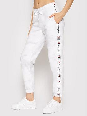 Champion Champion Spodnie dresowe Elastic Cuff 114759 Biały Regular Fit