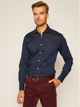 Tommy Hilfiger Tailored Tommy Hilfiger Tailored Ing Dobby TT0TT08319 Sötétkék Slim Fit