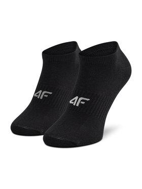 4F 4F Комплект 3 чифта къси чорапи дамски H4L21-SOD008 Черен