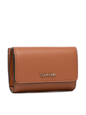 Calvin Klein Calvin Klein Malá dámska peňaženka Ck Must Trifold Sm K60K607251 Hnedá