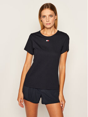 Tommy Sport Tommy Sport T-Shirt Piping S10S100591 Σκούρο μπλε Regular Fit