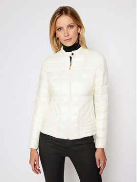 Trussardi Jeans Trussardi Jeans Giubbotto piumino Quilted Mid Collar Shiny Light 56S00490 Beige Regular Fit
