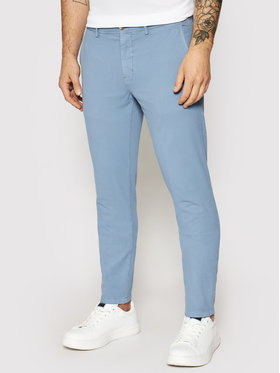Tommy Hilfiger Tommy Hilfiger Pantalon en tissu Bleecker Structure MW0MW17909 Bleu Slim Fit