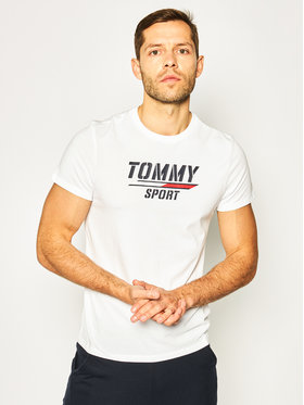 Tommy Sport Tommy Sport T-Shirt Printed Tee S20S200442 Biały Regular Fit