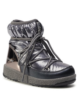 Moon Boot Moon Boot Sněhule Jrgirl Low Nylon Premium Wp 34052300002 M Stříbrná
