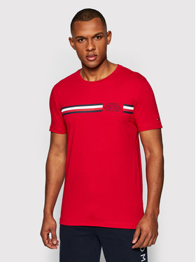 Tommy Hilfiger Tommy Hilfiger T-Shirt Corp Split Tee MW0MW16592 Κόκκινο Regular Fit