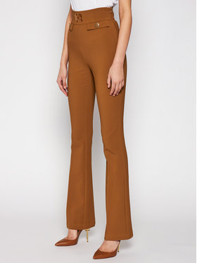 Elisabetta Franchi Elisabetta Franchi Pantalon en tissu PA-351-06E3-V339 Marron Super Skinny Fit