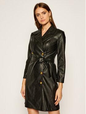 Pinko Pinko Kleid aus Kunstleder Villano AI 20-21 BLK01 1G152F Y6BE Schwarz Regular Fit