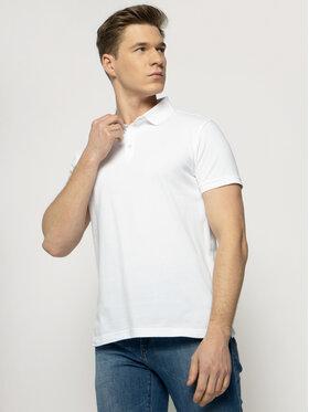 Trussardi Trussardi Тениска с яка и копчета 52T00492 Бял Regular Fit