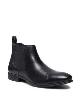 s.Oliver s.Oliver Členková obuv s elastickým prvkom 5-15300-27 Čierna