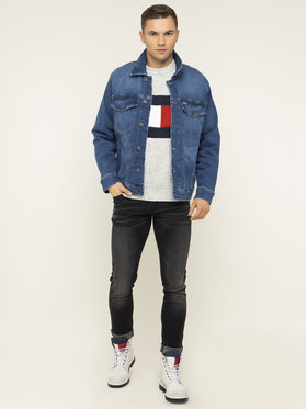 Tommy Jeans Tommy Jeans Jeansová bunda Oversized Denim Trucker DM0DM07528 Tmavomodrá Regular Fit