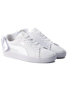 Puma Puma Sneakersy Basket Bow Jr 367321 01 Bílá