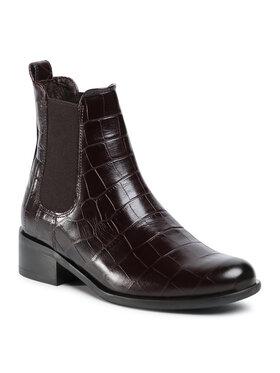 Gino Rossi Gino Rossi Kotníková obuv s elastickým prvkem 8484-05A Hnědá