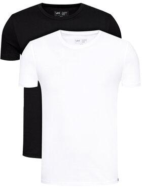 Lee Lee 2er-Set T-Shirts Twin Pack Crew L680CMKW Schwarz Fitted Fit