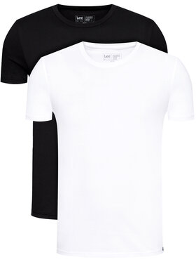 Lee Lee Set di 2 T-shirt Twin Pack Crew L680CMKW Nero Fitted Fit
