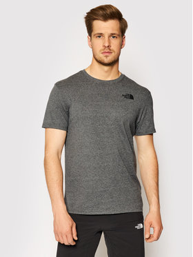 The North Face The North Face T-Shirt Red Box NF0A2TX2JBV1 Šedá Regular Fit