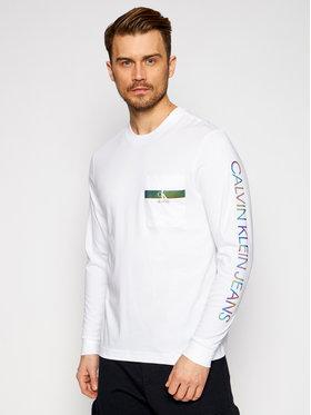 Calvin Klein Jeans Calvin Klein Jeans S dlhými rukávmi J30J317493 Biela Regular Fit