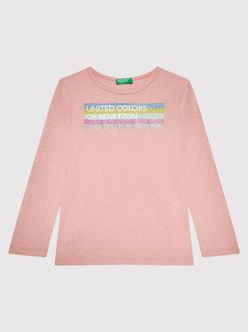 United Colors Of Benetton United Colors Of Benetton Блуза 3I9WC15BM Розов Regular Fit