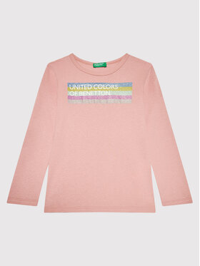 United Colors Of Benetton United Colors Of Benetton Chemisier 3I9WC15BM Rose Regular Fit