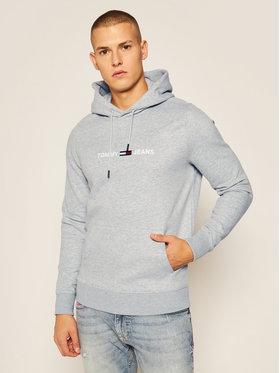 Tommy Jeans Tommy Jeans Bluza Tjm Straight Logo Hoodie DM0DM08474 Szary Regular Fit