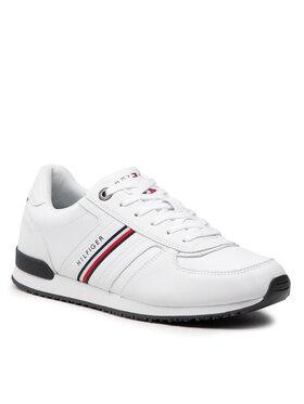Tommy Hilfiger Tommy Hilfiger Sneakersy Iconic Leather Runner Stripes FM0FM03923 Biały