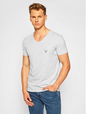 Guess Guess Marškinėliai U97M01 JR003 Pilka Slim Fit