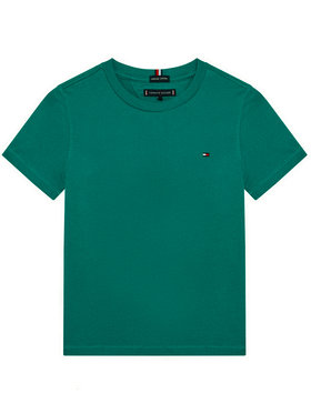 TOMMY HILFIGER TOMMY HILFIGER T-Shirt Essential KB0KB06130 Zelená Regular Fit