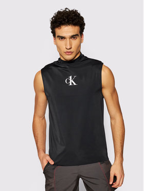 Calvin Klein Swimwear Calvin Klein Swimwear Tank top marškinėliai Muscle KM0KM00612 Juoda Slim Fit