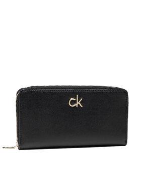 Calvin Klein Calvin Klein Голям дамски портфейл Slim Z/A Wallet Lg K60K608346 Черен