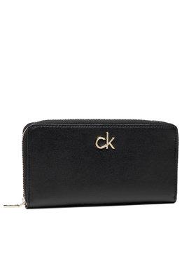 Calvin Klein Calvin Klein Große Damen Geldbörse Slim Z/A Wallet Lg K60K608346 Schwarz