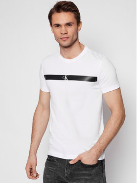 Calvin Klein Jeans Calvin Klein Jeans T-shirt J30J317165 Blanc Regular Fit