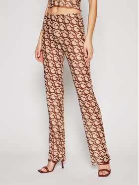 Guess Guess Текстилни панталони E1GB01 NT01L Кафяв Regular Fit