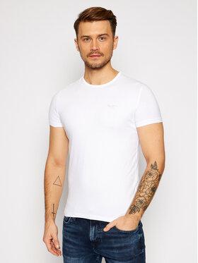 Pepe Jeans Pepe Jeans T-Shirt Orginal Basic PM503835 Biały Slim Fit