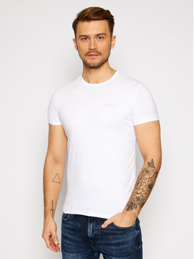 Pepe Jeans Pepe Jeans T-shirt Orginal Basic PM503835 Blanc Slim Fit