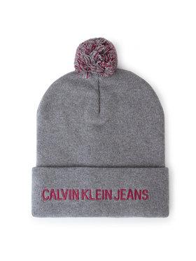 Calvin Klein Jeans Calvin Klein Jeans Czapka J Pom Pom Beanie K60K605815 Szary