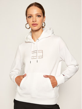 Tommy Jeans Tommy Jeans Суитшърт Essential Logo DW0DW08555 Бял Regular Fit