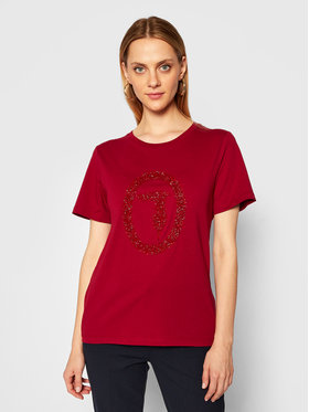 Trussardi Jeans Trussardi Jeans T-Shirt 56T00277 Dunkelrot Regular Fit