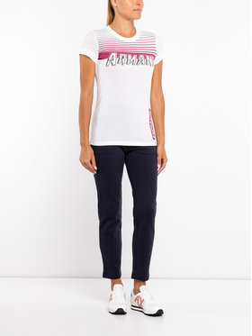 Armani Exchange Armani Exchange T-Shirt 6GYTEG YJ28Z 1000 Biały Slim Fit