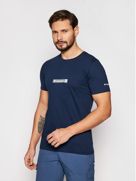 Columbia Columbia Tricou Rapid Ridge 1934824 Bleumarin Regular Fit